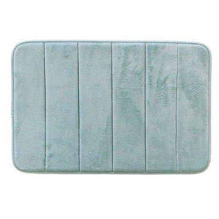 Tapete para Banheiro Antiderrapante Soft Verde Piscina 40x60cm