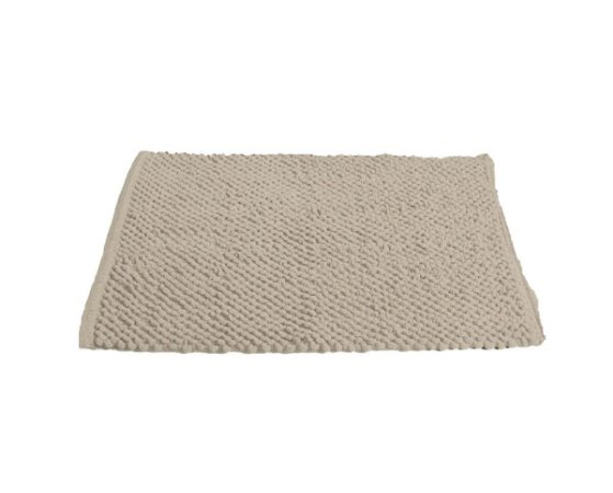 Tapete para Banheiro Antiderrapante Micropop 60x40cm Creme