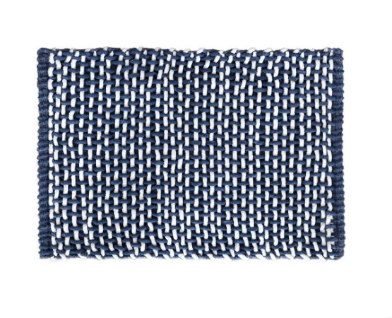 Tapete Banheiro Antiderrapante Microloop Camesa 40x60 Azul