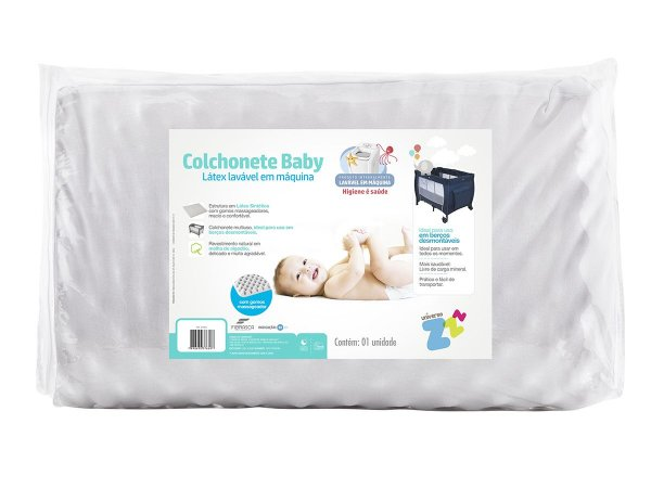 Colchonete Para Berço Desmontável Fibrasca Baby 53X91 Branco