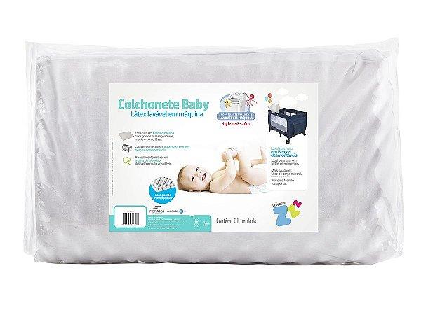 Colchonete Para Berço Desmontável Fibrasca Baby 65X90 Branco