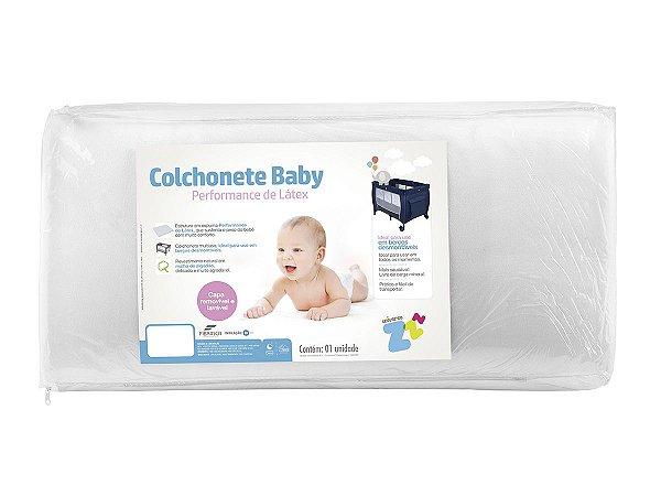 Colchonete Para Berço Desmontável Baby Branco 72x105x04 Fibrasca