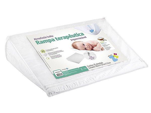 Almofada antirrefluxo baby 59x38 com capa percal 180fios revestimento impermeável Fibrasca