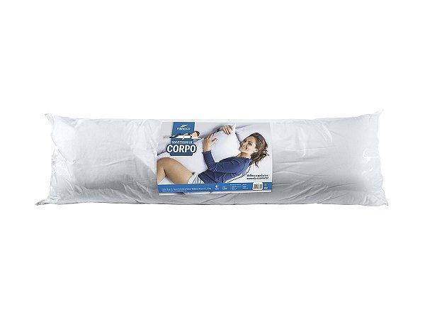 Travesseiro de Corpo Body Pillow Fibrasca 40x130cm Lavável em Máquina