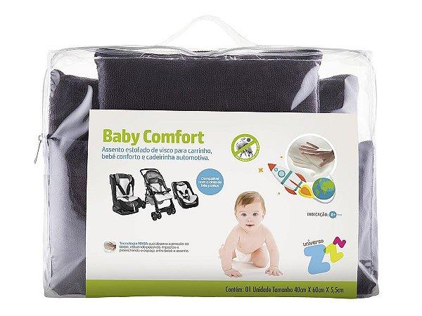 Assento Estofado Nasa Baby Comfort Carrinho Bebê Cadeira Automotiva Conforto Grafite 40x60x5,5 Fibrasca