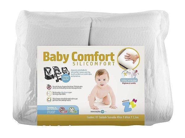 Assento para Carrinho de Bebê Bebe Conforto Cadeirinha Carro SiliComfort Lavável Fibrasca Branco