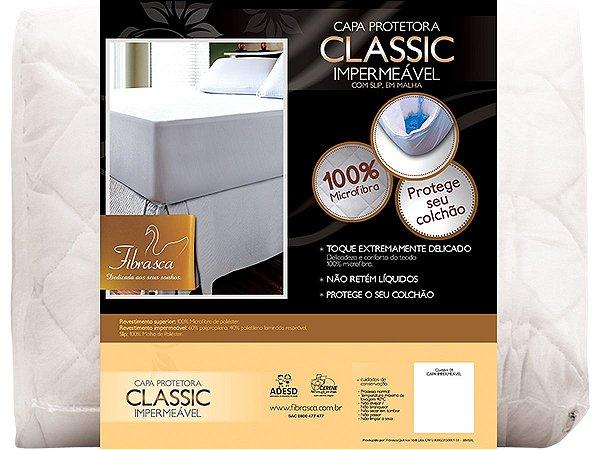 Protetor de Colchão Impermeável Classic Slip Malha Casal 140x190 Fibrasca