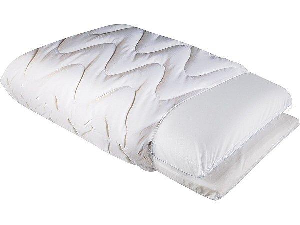 Travesseiro Regulável Pele de Pessego Ideal p/fronha 50x70 Fibrasca