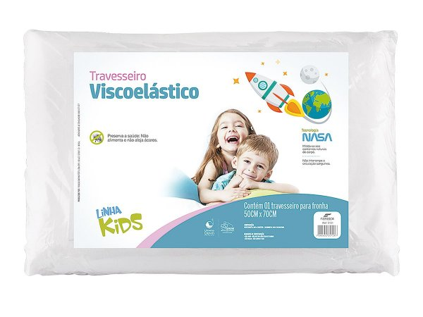 Travesseiro NASA kids p/ fronha 50x70 Fibrasca
