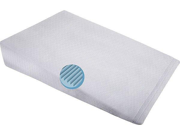 Travesseiro Antirrefluxo Adulto com Capa Impermeável 60x83x15 Fibrasca
