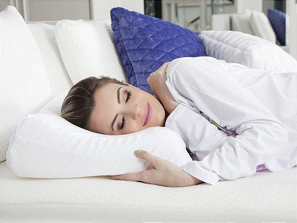Travesseiro Cervical p/fronhas 50x70cm Fibrasca
