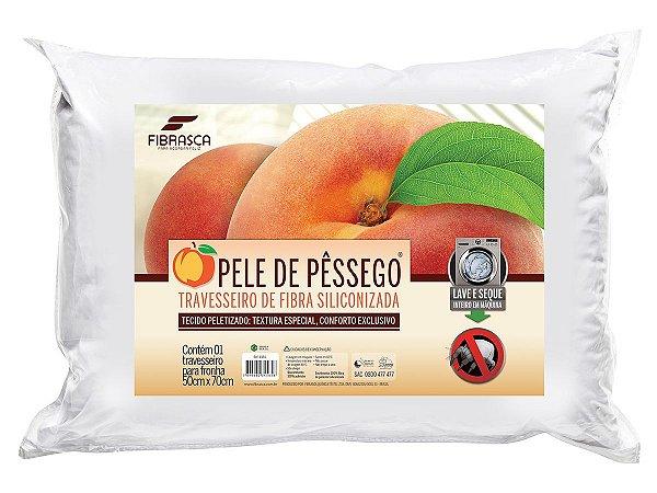 Travesseiro Pele de Pêssego Integralmente Lavável p/fronhas 50x70 Fibrasca