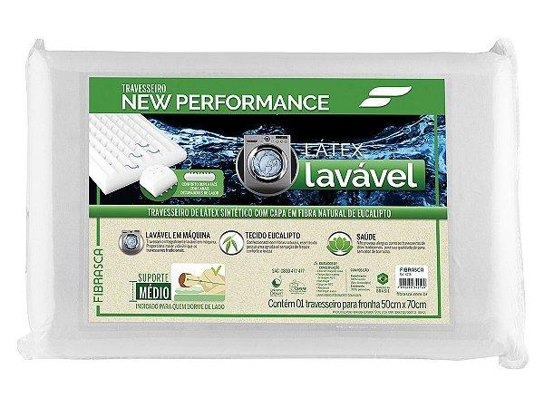 Travesseiro Látex Lavável Sintético Eucaliptus p/fronhas 50x70 Fibrasca