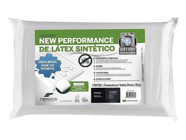 Travesseiro Látex Lavável Plus Sintético Massageador 50x70 Fibrasca