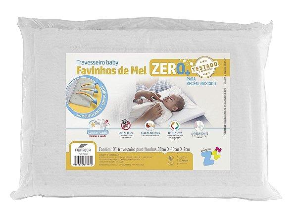Travesseiro Recém Nascido 0+ Favinho De Mel Baby Lavável 30X40 Fibrasca