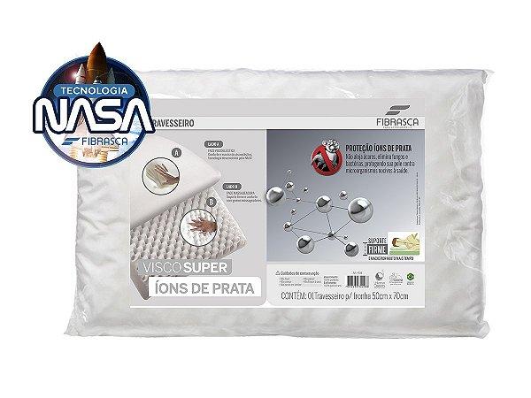 Travesseiro Nasal Alto Viscosuper Íons de Prata Anti Ácaro Fibrasca 50x70cm