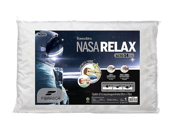 Travesseiro Nasa Alto Relax Fibrasca para Fronha 50x70cm