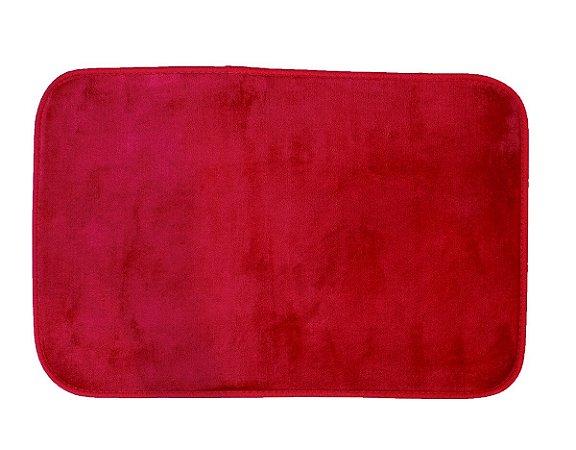 Tapete para Banheiro Antiderrapante Flannel Outlet Vermelho 60x40cm