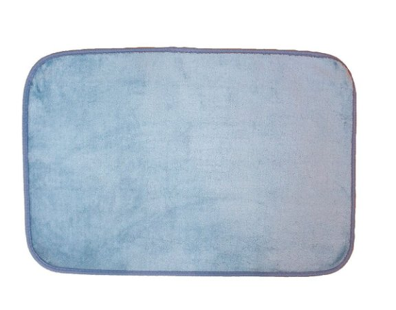 Tapete para Banheiro Antiderrapante Flannel Outlet Azul Claro 60x40cm