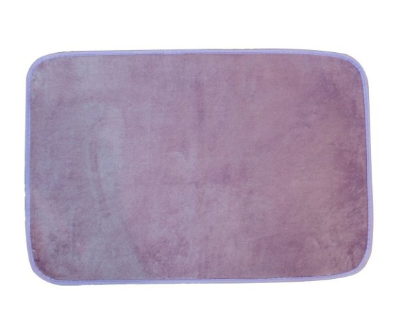 Tapete para Banheiro Antiderrapante Flannel Outlet Lilás 60x40cm