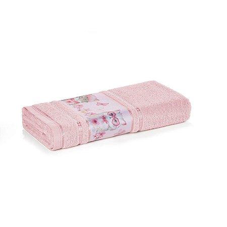 Toalha de Banho Infantil Menina Missi Rosa Karsten 67x135cm