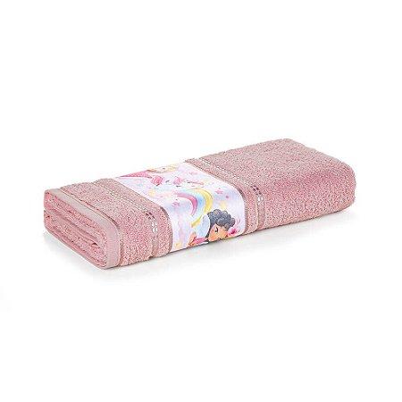 Toalha de Rosto Infantil Menina Encantada Rosa Karsten 49x70cm
