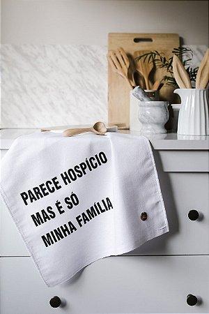 Pano de Copa Gourmet Familia Branco Pano Urbano 75x45cm