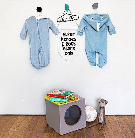 Pijama Fantasia Bebê 3-6 meses Flannel Unissex Camesa