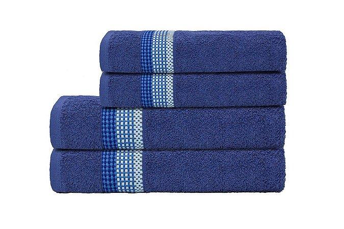 Toalha de Rosto Vênus Azul Camesa 45x70cm Algodão
