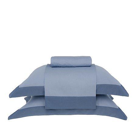 Jogo de Cama Casal Modern Azul Buddemeyer 4 peças 220x250cm