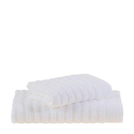 Jogo de Toalhas Banho e Rosto 2 Peças Organic Branco Buddemeyer