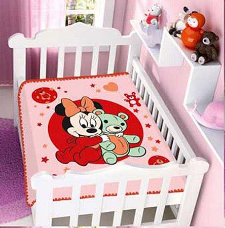 Cobertor Infantil Baby Raschel Disney Minnie Estampas 90x110cm Jolitex