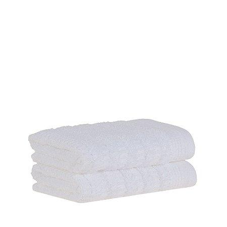 Jogo 2 Toalhas de Lavabo Organic Branco 2 Peças 30x50cm Buddemeyer