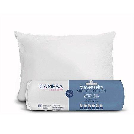 Jogo 4 Travesseiro Micro Cotton Suporte Médio 50X70 Camesa