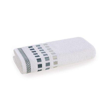 Toalha de Rosto Karsten Calera Branco Turquesa 49x70cm Algodão