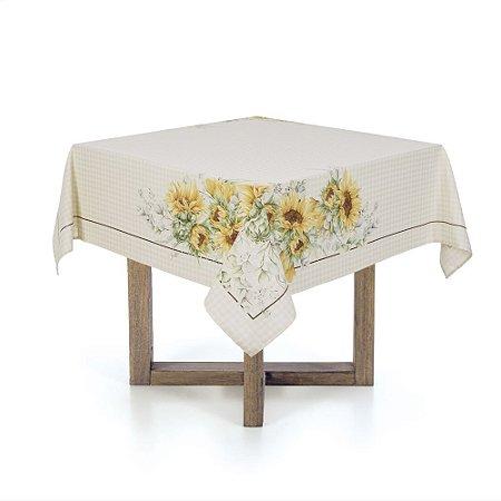 Toalha de Mesa Quadrada Chá Flor do Sol Karsten 78x78cm