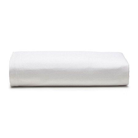 Colcha Piquet Unique Solteiro Branco 160x250cm Santista 100%  Algodão