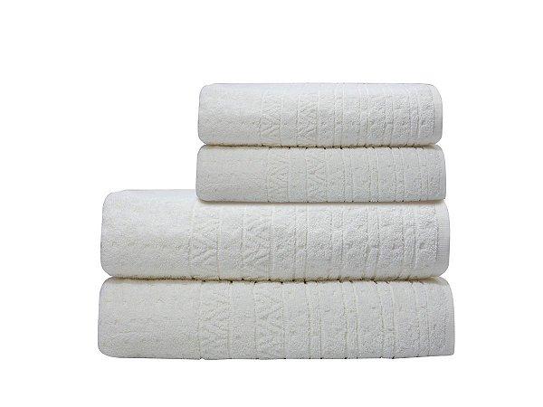 Toalha de Banho Matrix Branco Camesa 70x140cm 100%algodão