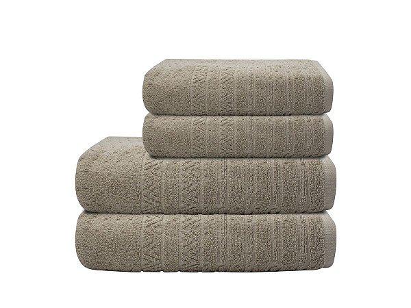 Toalha de Banho Matrix Bege Camesa 70x140cm 100%algodão