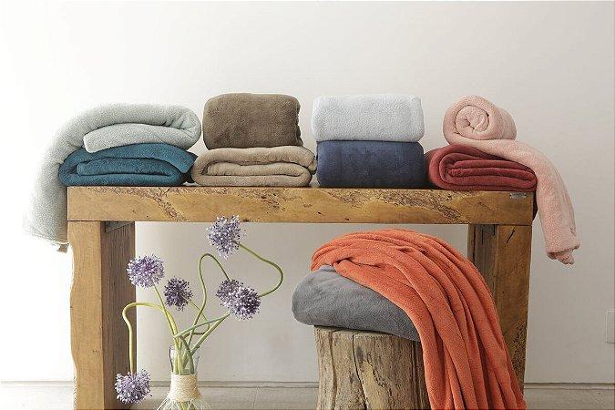 Cobertor Manta Microfibra Casal 180x220xm Cores Camesa