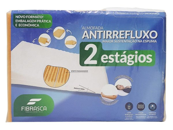 Travesseiro Antirefluxo 2 Estágios Fibrasca 60x80cm