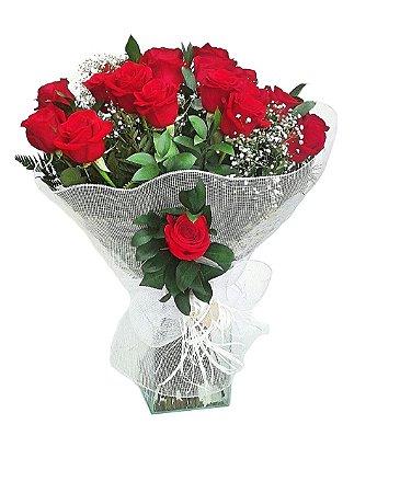 Buquês com 12 Rosas