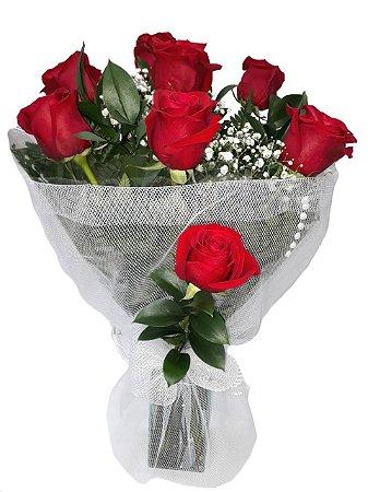 Buquês com 8 Rosas