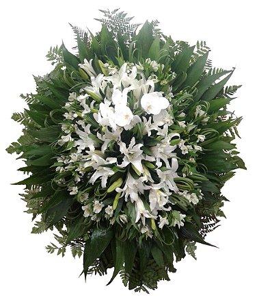 Coroa com Lírios e Orquídea