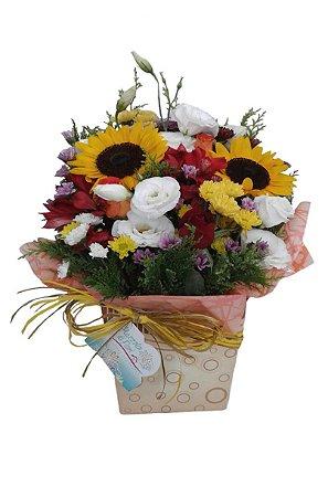 Cachepô de Flores Mistas