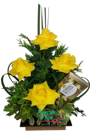 Rosas com Ferrerro Rocher