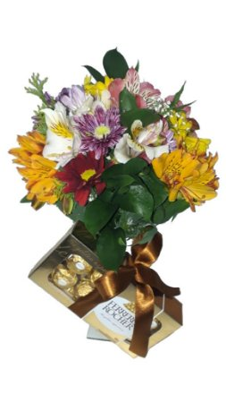 Flores do campo com Ferrero Rocher
