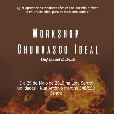 Ingresso Workshop Churrasco Ideal