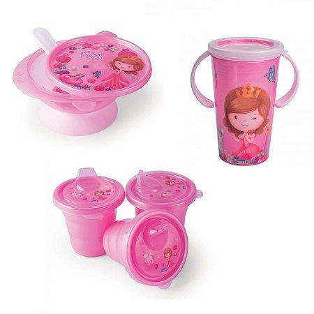 Kit Refeição Para Bebes - Princesa