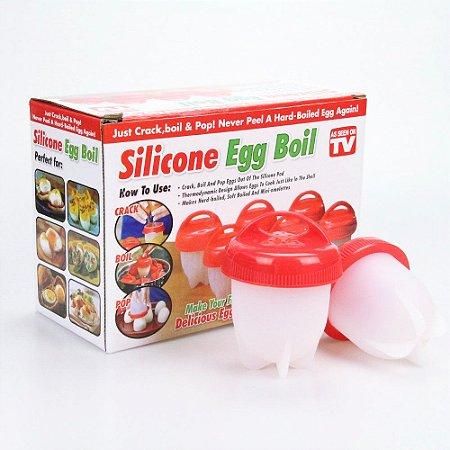 Forma de Silicone para Cozinha Ovos Egg Boil